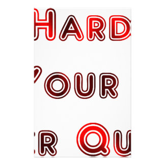 Try hard stationery