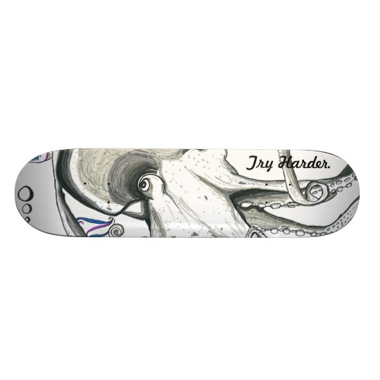 Try Harder/Space Octopus SkateBoard