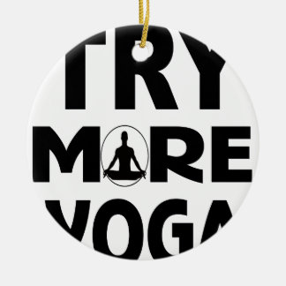 Try more yoga ceramic ornament