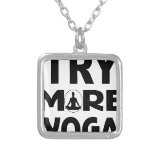Try more yoga silver plated necklace