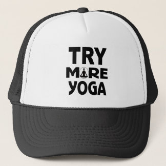Try more yoga trucker hat