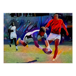 Try Time - Rugby Art On Canvas Print