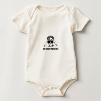 try to date my daughter baby bodysuit