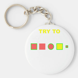 Try to solve this: basic round button keychain