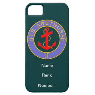 TS Arethusa Name Rank Number Customisable teal iPhone 5 Covers