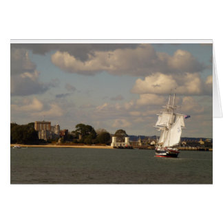 TS Royalist entering Poole Harbour Card