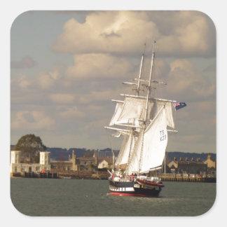 TS Royalist entering Poole Harbour Square Sticker