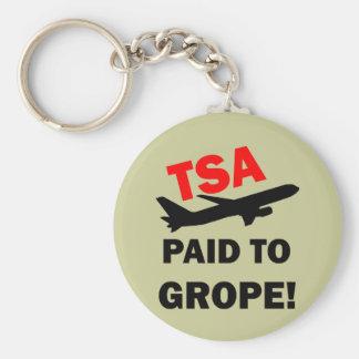 TSA BASIC ROUND BUTTON KEYCHAIN