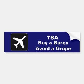 TSA Burqa Bumper Sticker