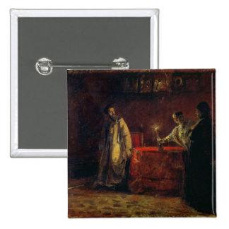 Tsar Boris Godunov  and Tsarina Martha, 1874 2 Inch Square Button