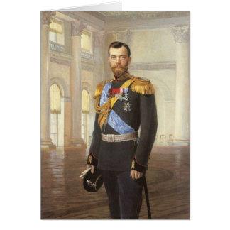 Tsar Nicholas II Greeting Card
