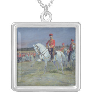 Tsarevich Nicolas  Reviewing the Troops, 1899 Silver Plated Necklace
