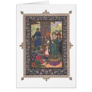 Tsarevna Elena the Fair with her Servants Poster Card