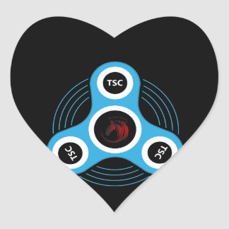 TSC  fidget spinner Heart Sticker