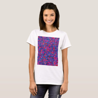 Tshirt for lady with purple crystals