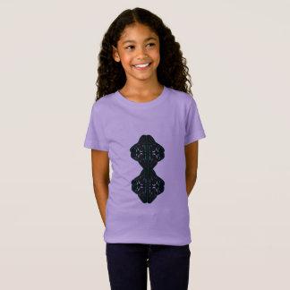 Tshirt girls purple with mandala black