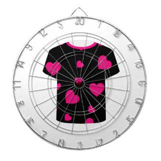 Tshirt graphic with Valentine Hearts Dart Boards