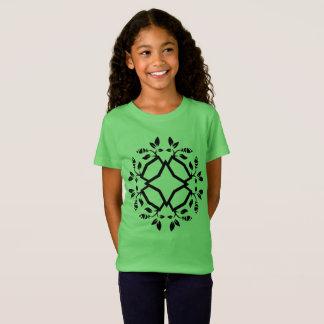 Tshirt green with mandala art
