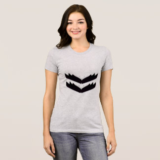 Tshirt grey with Angel wings black