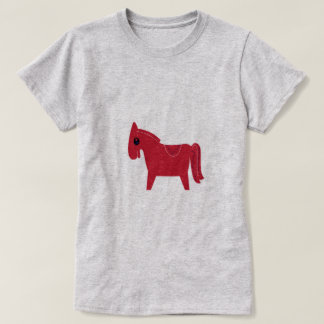 Tshirt grey with funny Horse brown