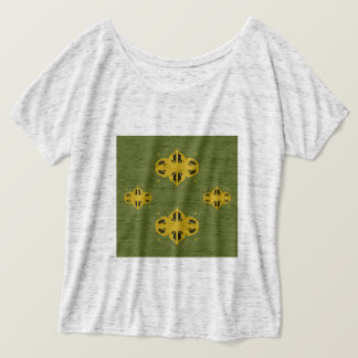 Tshirt grey with Ornaments goldgreen