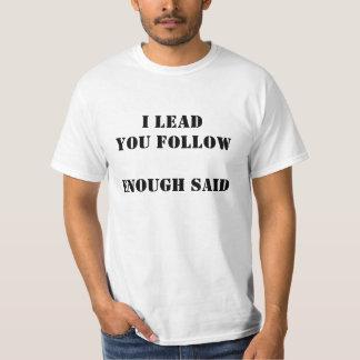 tshirt - I lead