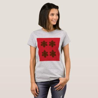 Tshirt ladies grey red