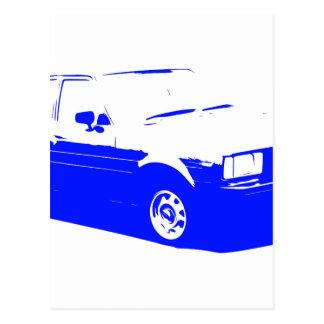 Tshirt Old Corolla blue-1983 Postcard