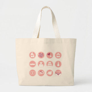 Tshirts with wedding Icons Large Tote Bag