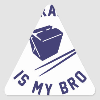 Tso is my Bro Triangle Sticker