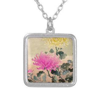 Tsuchiya Koitsu 土屋光逸 - Chrysanthemum 菊 Silver Plated Necklace