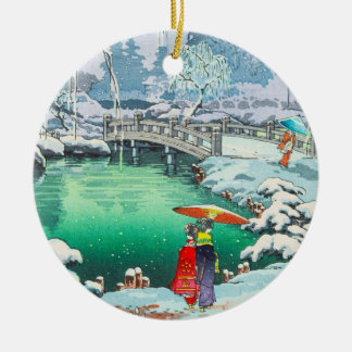 Tsuchiya Koitsu Sketches of Famous Places In Japan Ceramic Ornament