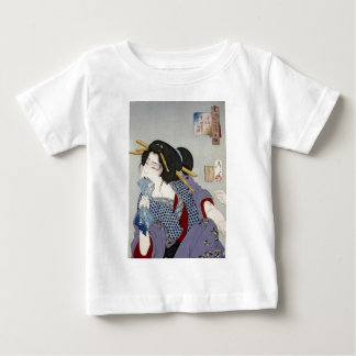 Tsukioka Yoshitoshi 月岡 芳年 - Looking in Pain Baby T-Shirt