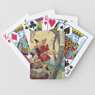 Tsukioka Yoshitoshi - Yoshitsune and Benkei Bicycle Playing Cards