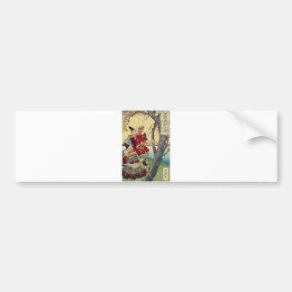 Tsukioka Yoshitoshi - Yoshitsune and Benkei Bumper Sticker