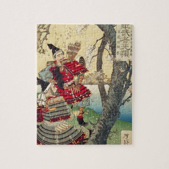 Tsukioka Yoshitoshi - Yoshitsune and Benkei Jigsaw Puzzle