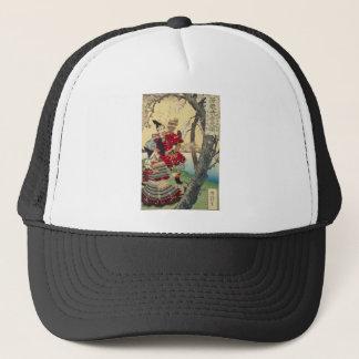 Tsukioka Yoshitoshi - Yoshitsune and Benkei Trucker Hat