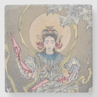 Tsukioka Yoshitoshi's Goddess in the Sea Stone Coaster