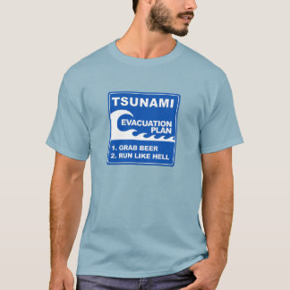 Tsunami Evacuation Plan T-Shirt