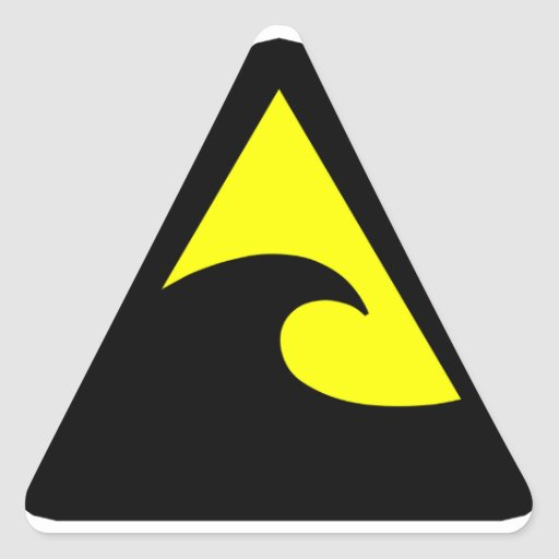 tsunami hazard sign zazzle