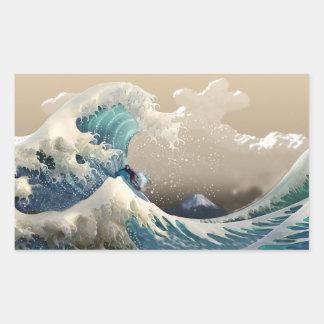 tsunami surf sticker