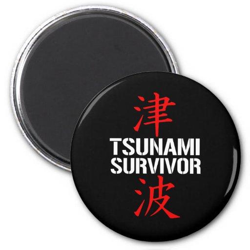 TSUNAMI SURVIVOR REFRIGERATOR MAGNET
