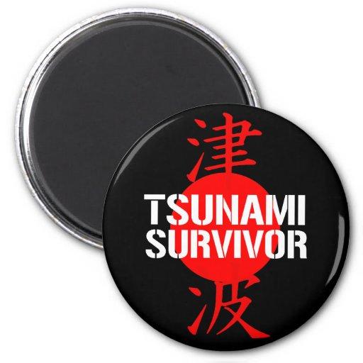 TSUNAMI SURVIVOR REFRIGERATOR MAGNETS
