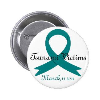 Tsunami Victims awareness ribbon バッジ