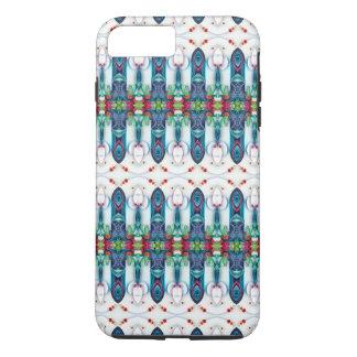 Tsunami Wave Kaleidoscope Art Modern Blue iPhone 7 Plus Case
