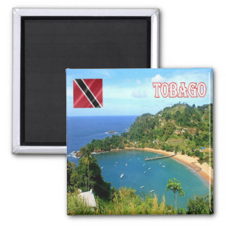 TT - Trinidad and Tobago Parlatuvier Bay View Square Magnet