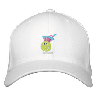 TTA_smiling ball + name on side Embroidered Hats