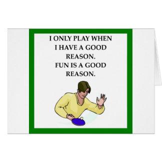 ttable tennis card