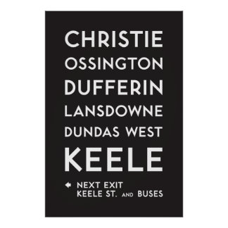 TTC - Bloor-Danforth Christie Poster