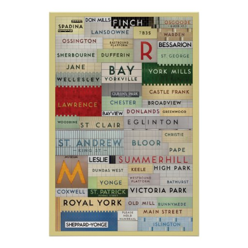Ttc Found Type Stations Poster Zazzle Ca